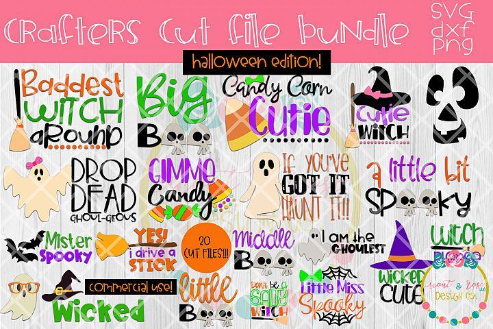 Halloween SVG Bundle! 20 Cut Files, SVG, DXF, PNG
