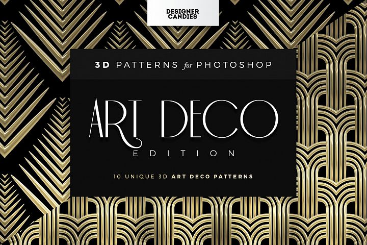 3D Art Deco Patterns