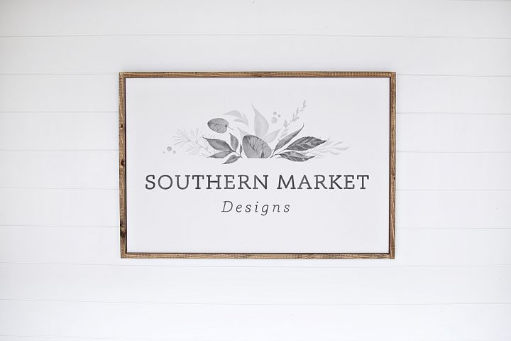 24x36 Wood Sign Mock Up Styled Stock Photo