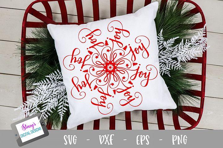 Mandala SVG - Joy mandala svg - Christmas SVG