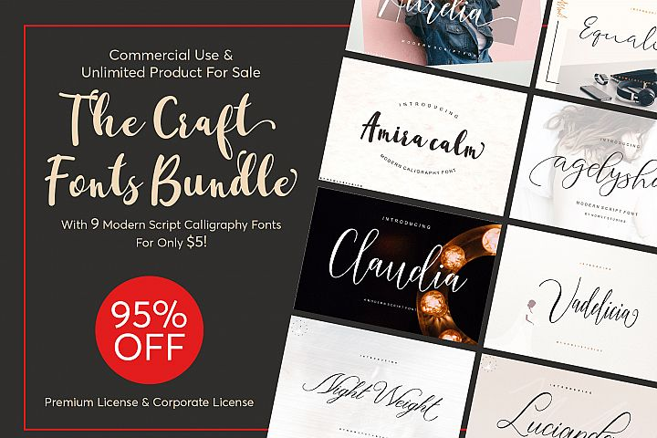 The Craft Fonts Bundles!