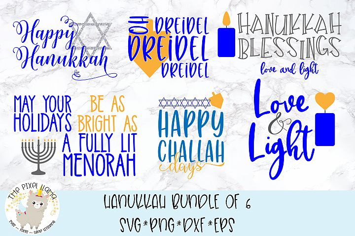 Hanukkah Bundle 6 Files SVG Cut File