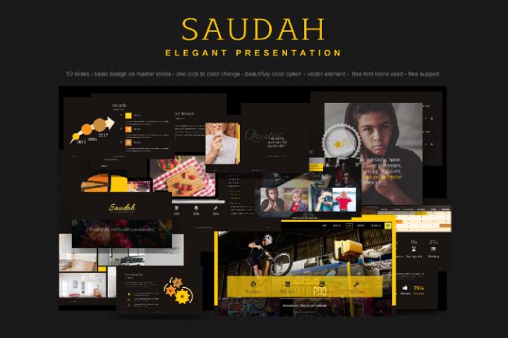 Saudah Elegant Presentation PowerPoint Template