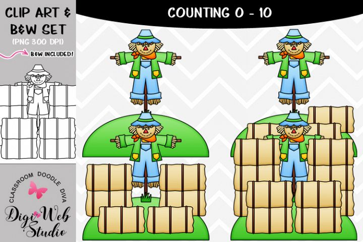 Clip Art / Illustrations - 0-10 Counting Hay Bales