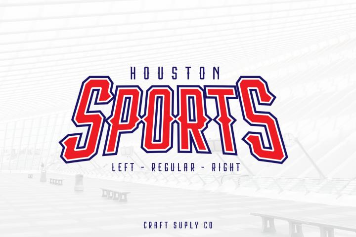 Houston Sports Font Family example image 1