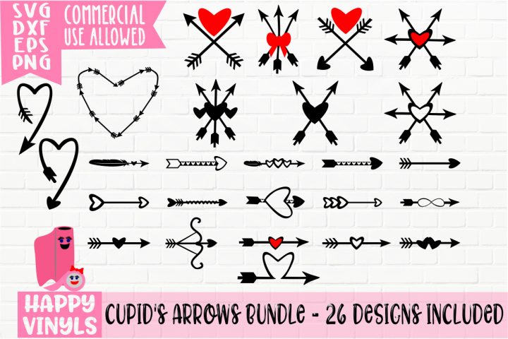 Cupids Arrows Bundle - A Valentine and Wedding SVG Bundle