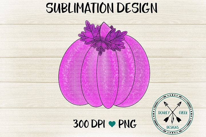 Hand Drawn Pink and Purple Watercolor pumpkin PNG