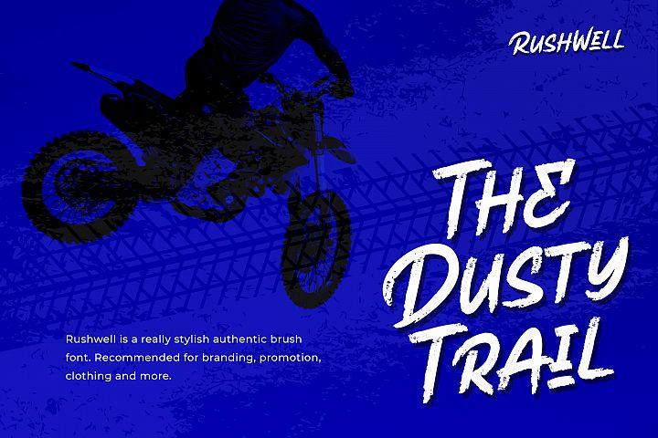 Rushwell - Brush Font example image 2