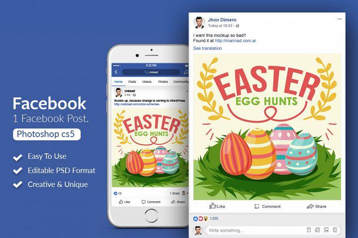 Easter Event Facebook Post Banner