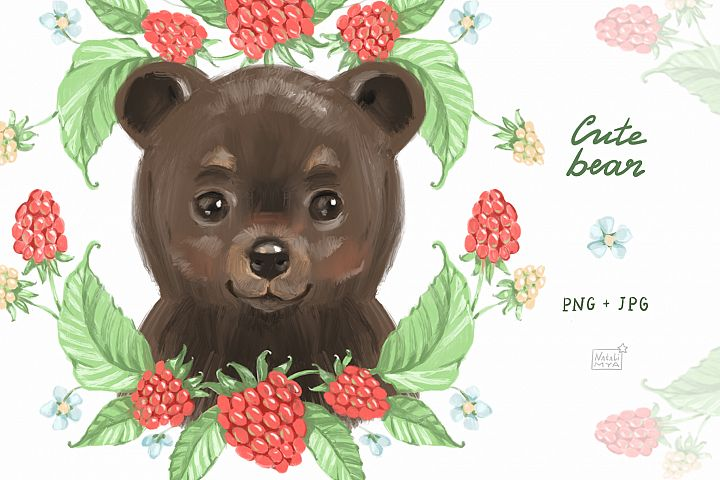 Cute bear cliparts