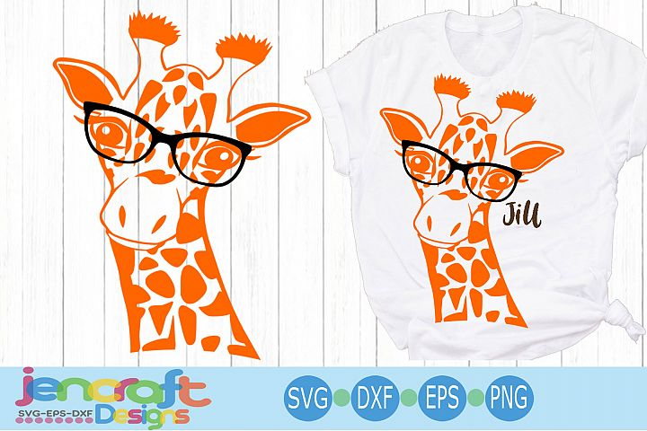 Giraffe in glasses svg, Cute Funny Kids Mother svg