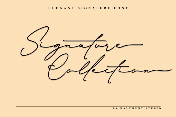 Signature Collection - Script Font