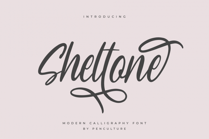 Sheltone - Modern Calligraphy Font