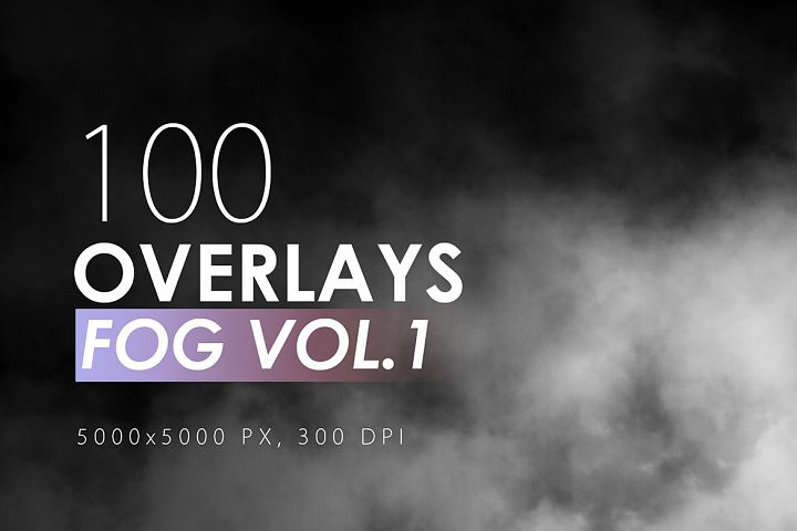 100 Fog Overlays Vol. 1
