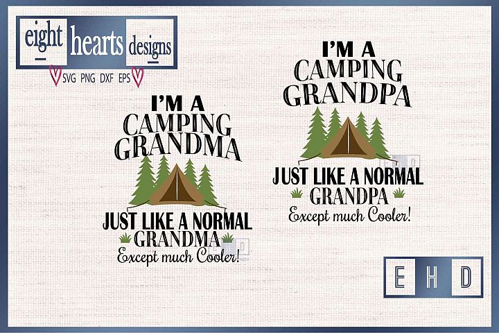 Camping Grandma, Grandpa SVG PNG EPS DXF - Great quality Cut