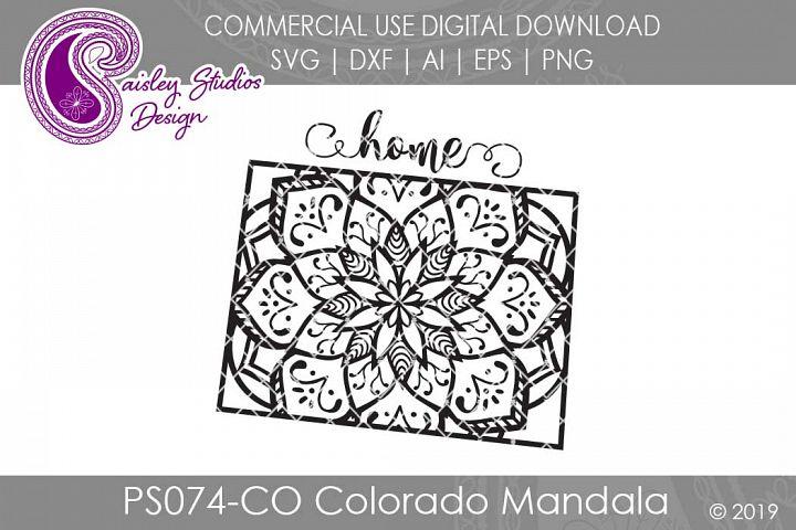 Mandala Colorado Home SVG DXF Ai EPS PNG