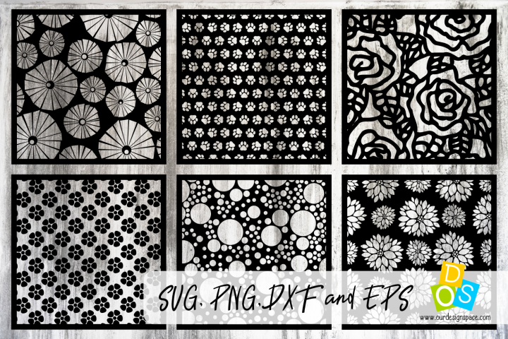 Patterns & Stencils SVG, PNG, DXF and EPS files