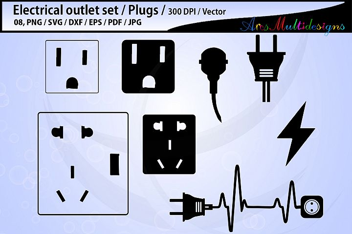 electric outlet plug electricity SVG / electric svg outline