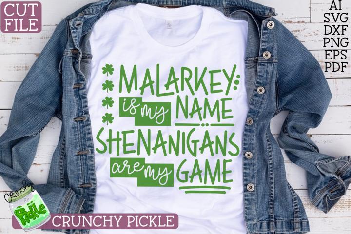Malarkey Name, Shenanigans Game St Paticks Day SVG File