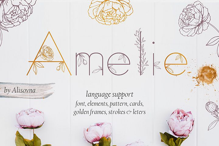 Amelie Floral Display Font