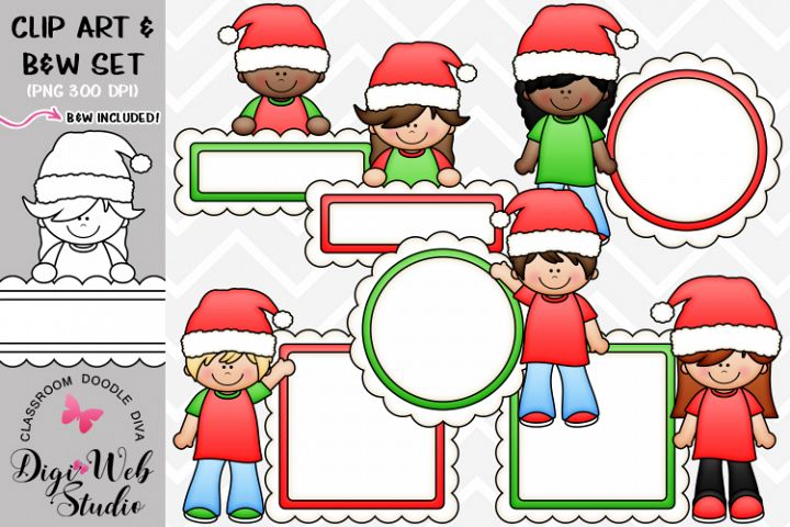 Clip Art / Illustrations - Santa Message Board Kids