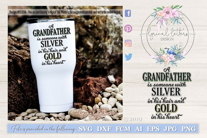 Grandfather Quote SVG DXF FCM LL124A