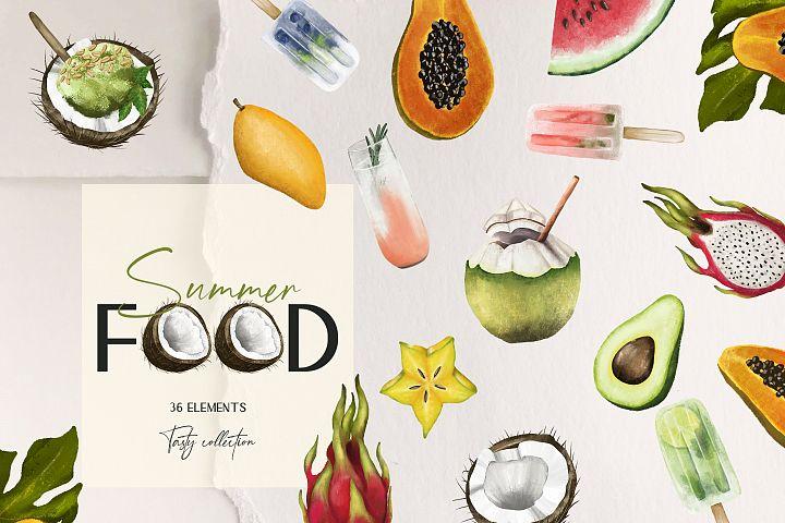 Summer food clipart, Fruit clipart, Ice cream clipart