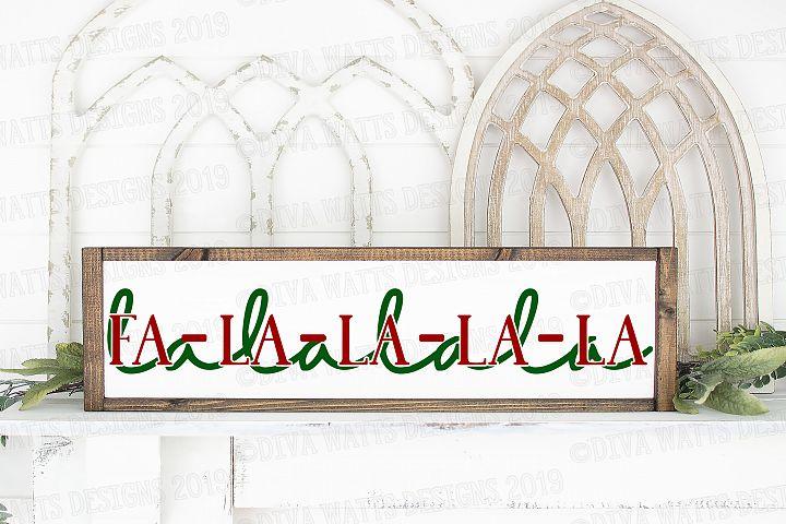 Fa La La La La La La La Christmas Cutting File SVG DXF PNG