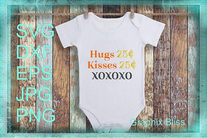 Hugs And Kisses XOXO Valentine Design SVG