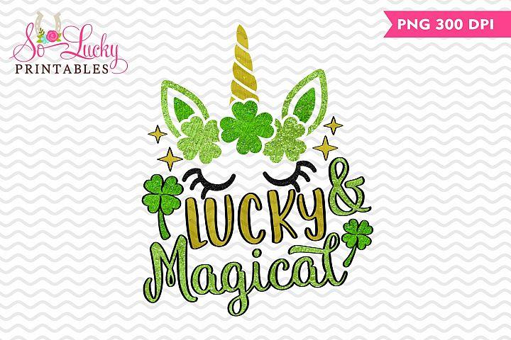 Lucky Magical Unicorn printable sublimation design