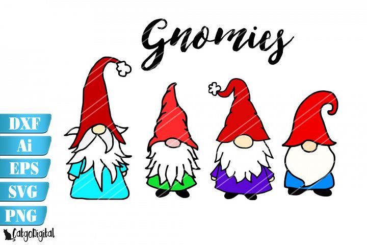 Gnomes SVG Cute Gnomes DXF PNG EPS AI Gnomies