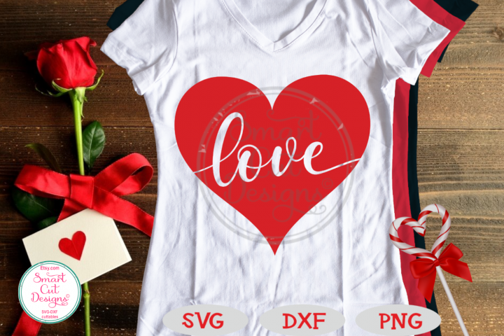 Love In Heart SVG, Valentine SVG, Love SVG, Love Word, Heart