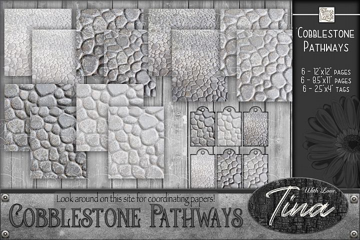 Cobblestone Pathways Nature Outdoors Walkway gray grey