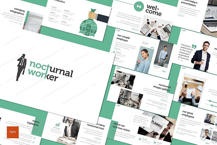 Nocturnal Worker - Powerpoint Template