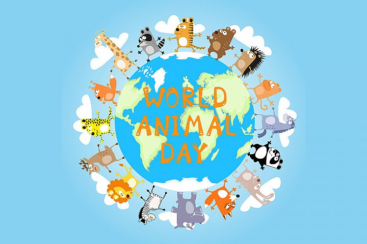 Banner: World animal day - 2. Vector illustration