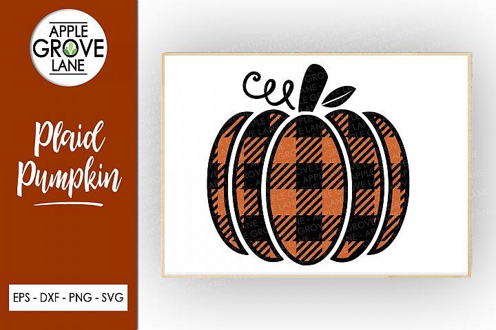 Plaid Pumpkin Svg Cut File - Buffalo Check - Svg Dxf Eps Png