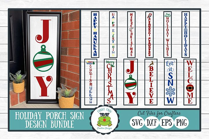 Holiday Porch Sign Design Bundle - Christmas SVG Cut Files