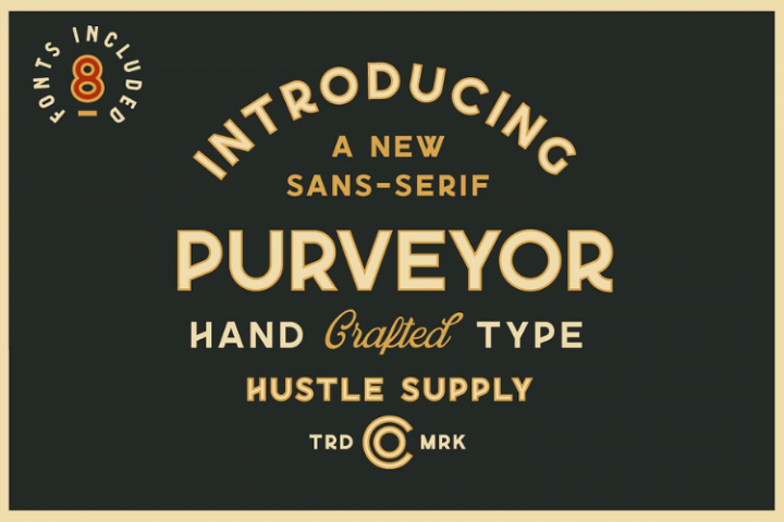 Purveyor - 8 Fonts Included - Font Bundle
