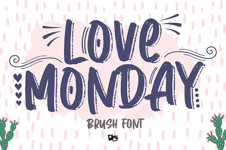 Love Monday - Brush Font