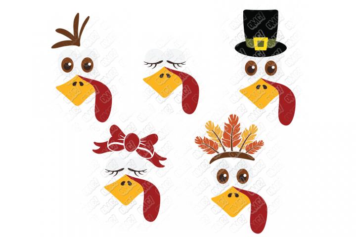 Turkey Face SVG in SVG, DXF, PNG, EPS, JPEG