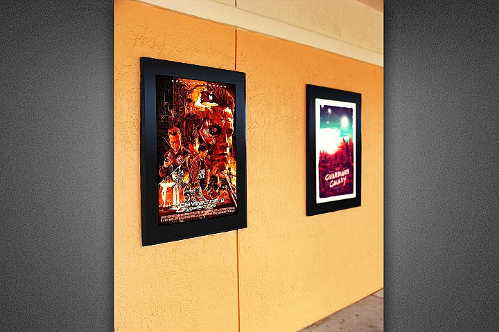 Movie Poster Frame Mockup Template