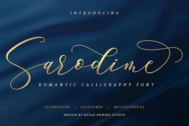 Sarodime - Romantic Calligraphy Font