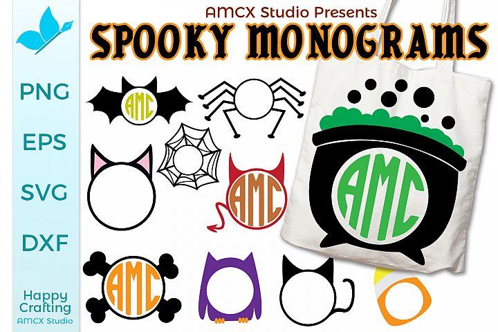Spooky Monogram Bundle - 10 Designs