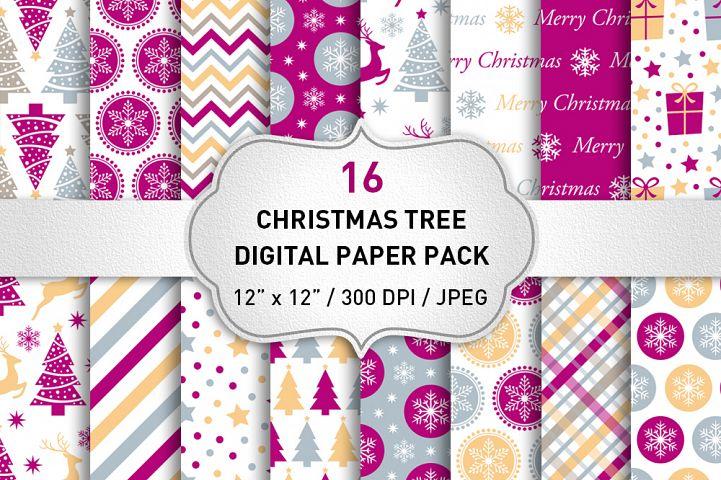 Christmas Digital Paper Pack / Christmas Graphics