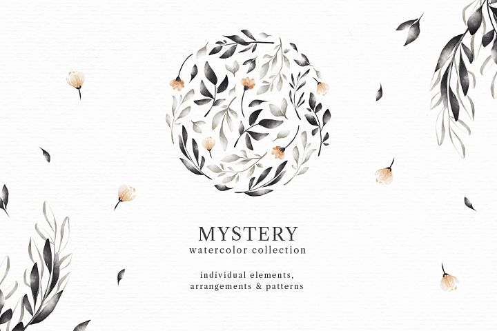 Mystery. Watercolor Collection.