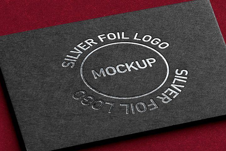 Silver Foil Logo Card Mockup
