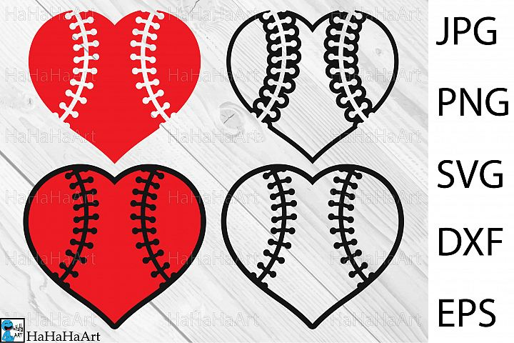 Baseball Heart Design - Clip art / Cutting Files - 68c