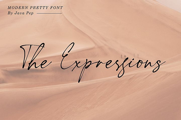 The Expressions / modern pretty font