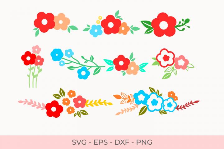 Flowers Svg, Florals Svg, Svg Files