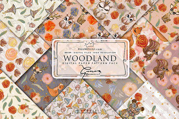 Woodland Animals Digital Papers